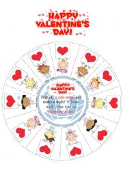English Worksheet: Valentine�s Day Wishes