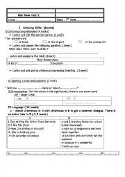 7th grade test n2 7th grade testn2 language tasks about the farm the