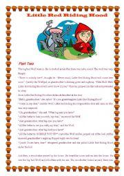 English Worksheet: Little Red Riding Hood - II