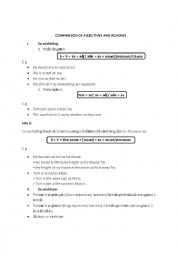 English Worksheet: Comparison of adjectives and adverbs