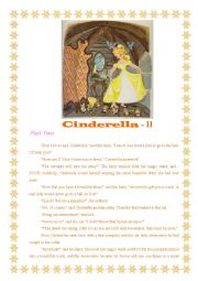 English Worksheet: Cinderella-II