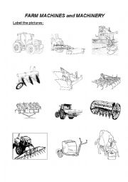english worksheets farm machines and machinery with answers. Black Bedroom Furniture Sets. Home Design Ideas