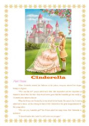 English Worksheet: Cinderella - III