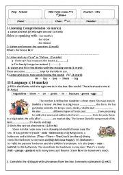 mid -term test n°2 7th form