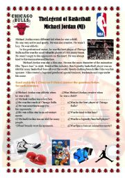 English Worksheet: Michael Jordan