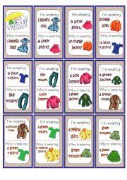 English Worksheet: clothes Game