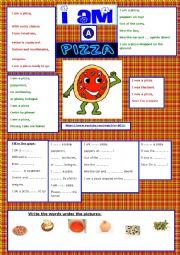 English Worksheet: I AM A PIZZA