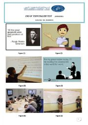 English Worksheet: Public Speaking  and class presentation Test