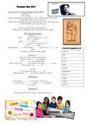 English Worksheet: Count on Me by Bruno Mars