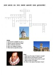 English Worksheet: How much do you know about Don Quixote?