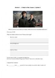 English Worksheet: Sherlock - A Study in Pink - past modals
