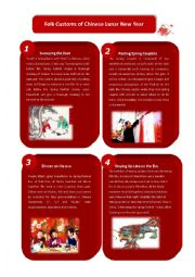 English Worksheet: Folk Customs of Chinese Lunar New Year