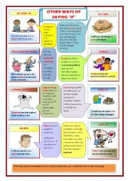 English Worksheet: Other ways of saying