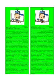 English Worksheet: Information Gap Plumber 2/3 (Cloze)