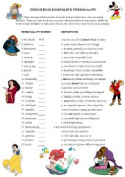 English worksheets: personality worksheets, page 7