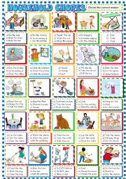 household chores/multiple choice activity