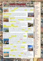 English Worksheet: Useful language: Describing Places