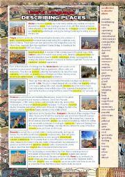 English worksheet: Useful language: Describing Places