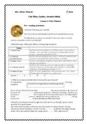 Unit 3/lesson 4:prize winners ( part 1)