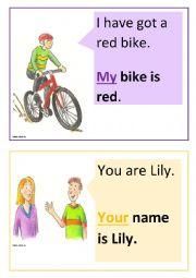 English Worksheet: Possessive pronouns flashcards