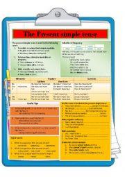 English Worksheet: Present simple tense