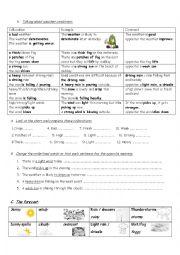 English Worksheet: weather vocabulary