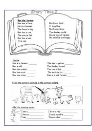 English Worksheet: Ron -The farmer