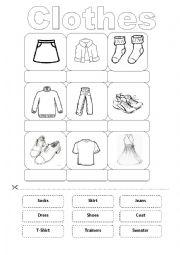 English Worksheet: Clothes Vocabulary (Winter)