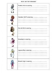 Printables Monster High Worksheets monster high worksheets davezan english the clothes page 215 make a high