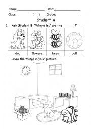 English worksheet: Preposition communicative exercise