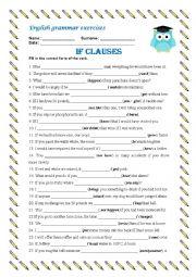 English Worksheet: If Clauses