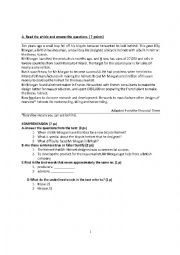 English Worksheet: bicycle helmet