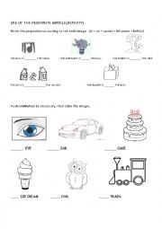 English Worksheet: A / An indefinite articles. (Activity)