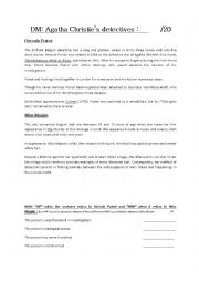 English Worksheet: Agatha Christie�s detectives