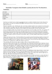 English Worksheet: Mobile Laundry Service for the Homeless