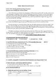 English Worksheet: the farmer and the golden eggs