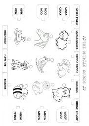 English Worksheet: Animals sound