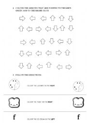 english worksheets directions right and left. Black Bedroom Furniture Sets. Home Design Ideas