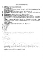 English Worksheet: lesson 6 the brain drain
