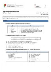 English Worksheet: The World of Work