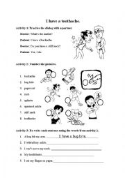English Worksheet: I Have a Toothache