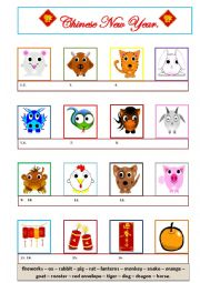 English Worksheet: Chinese New Year.