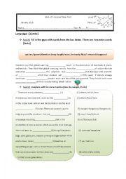 English Worksheet: mid- term 2