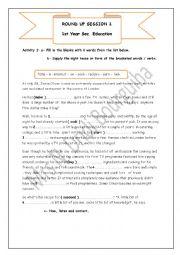 English Worksheet: review session Jamie Oliver