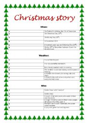 English Worksheet: Write a Christmas story