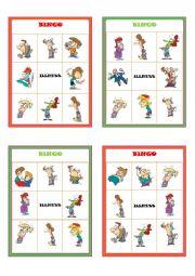 English Worksheet: Illnesses Bingo Boards Part 1 of 3