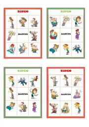 English Worksheet: Illnesses Bingo Boards Part 2 of 3