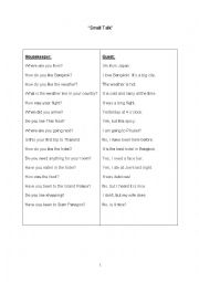 English Worksheet: Small Talk or Chit Chat