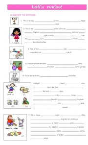 English Worksheet: Let´s revise!