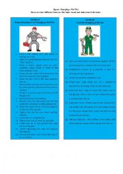 English Worksheet: Information Gap Task 6/8: jigsaw